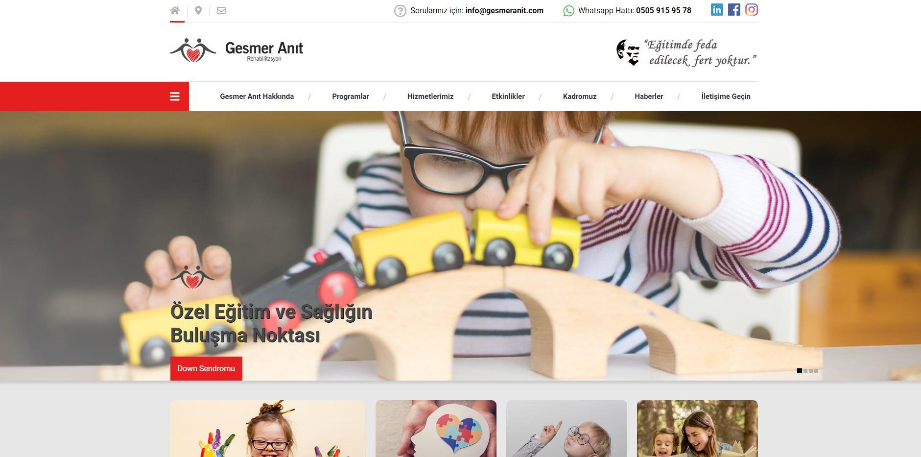 Yeni Web Sitemiz Yayında | Gesmer Anıt Rehabilitasyon Merkezi